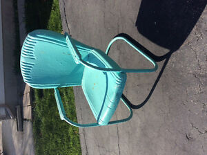 Antique / Vintage metal motel chairs