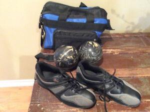Ensemble quilles - Sac, boules de quilles et souliers