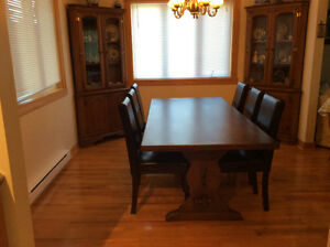Trestle Table & Six Chairs