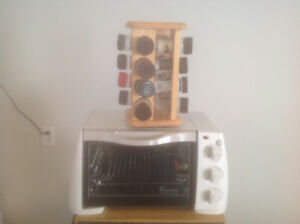 Toaster Oven with Bonus Spinning Spice Rack