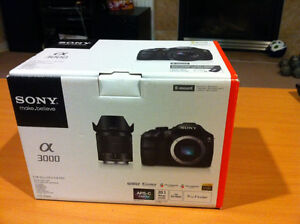 New Sony Alpha a3000 Digital Camera with 18-55mm Lens, 20.1MP