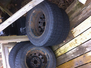 FORD f150 WINTER TIRES AND RIMS BARELY USED St. John's Newfoundland image 1