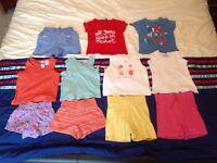 Bundle of girls summer clothes 12-18 months