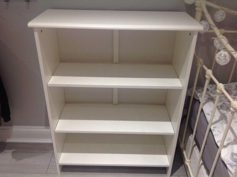 White bookcase for sale