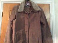 Suede jacket ladies uk size18 Barneys of New York exc condition