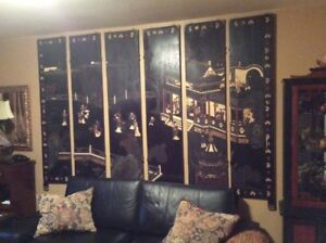 CHINESE 6 PANEL SCREEN VINTAGE