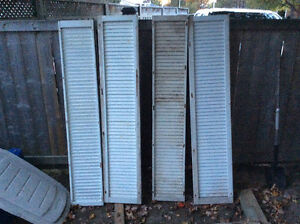 Four Vintage Wooden Exterior Window Shutters