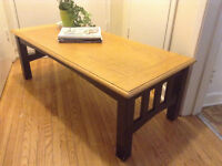 Beige top coffee table