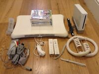 Nintendo wii, wii fit and games bundle