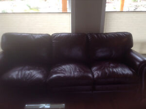 Laz-Boy all leather Couch and Loveseat