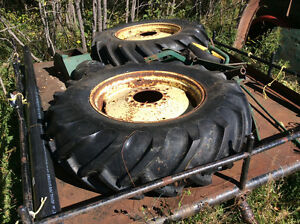 2 Farm tractor tires