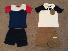 2 x McKenzie Shorts and T-shirt Sets 6-9 Month