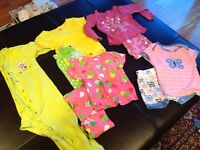 3 summer pj sets girls 18-24 month