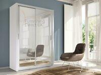 Lux 150 2 Door Sliding Wardrobe ,cupboard, cabinet, full Mirror