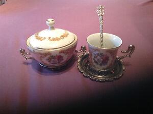 PODSTAKANNIK Soviet Russian tea set