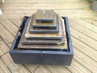 Aztec real slate water feature