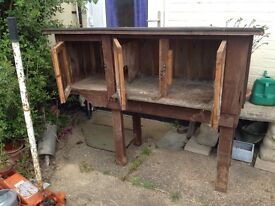 Large rabbit hutch,with 3 doors, heavy, pick up claxton nr14. . . . . . . .