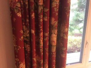 Custom drapery panels and curtain rods