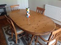 Antique Pine Ducal Dining Table (Table only) 6 place