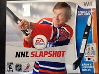 Wayne Gretzky NHL slapshot, with stick