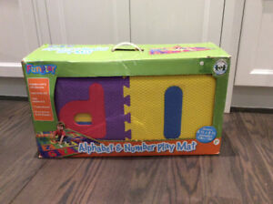 Alphabet and number soft play mat $20