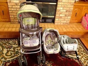 Graco stroller car seat and base