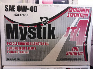 Mystik 4 Cycle Snowmobile Motor Oil Full Synthetic JT-4