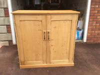Old Pine cupboard custom made for CDs but can be used for anything