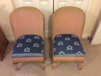 Pair of vintage Lloyd Loom bedroom nursing chairs