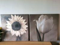 Two printed canvasses