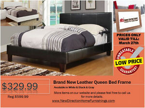 ◆Brand New Leather Queen/Double Bed Frame on Sale@NEWD