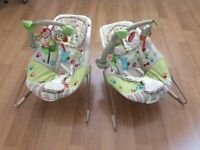 Fisher Price Woodsy Friends Comfy Baby bouncer