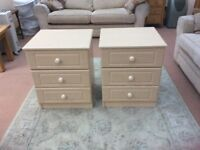 BEDSIDE DRAWERS MATCHING PAIR