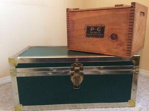 Steamer Trunk & Soap Box