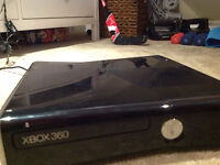 Xbox 360 console plus kinect and one remote