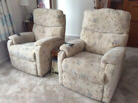 3 piece Suite with riser/recliner chairs