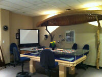 private professional office and shared common space