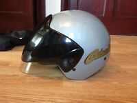 Fm open face motorcycle helmet new used once