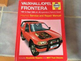 Vauxhall Frontera Haynes Manual