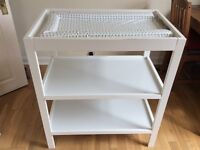 £25 Mothercare changing table and nappy bin