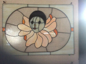 Stained glass clown face (hand made)