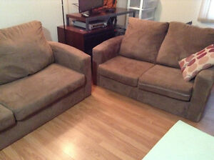 microfiber couch and loveseat delivery included