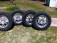 aluminum 17x114.3 rims and tires 235 65 17