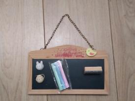 Double sided magnetic chalkboard / whiteboard