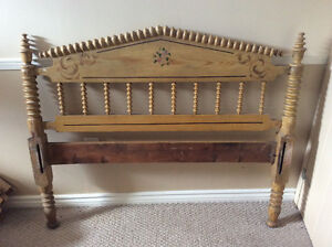 48 inch spool antique bed