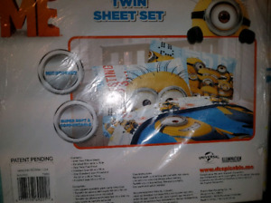 BNIB Minions twin sheet set