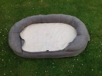 Luxury dog bed with washable cover