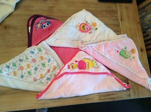 lot de 5 serviettes à capuchon pour fille