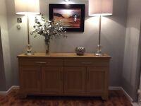 Harvey's Solid Oak Sideboard. RRP Over £400.
