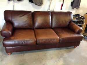 Leather Couches and Chair